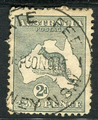 AUSTRALIA;  1913-15 early Roo issue used 2d. value