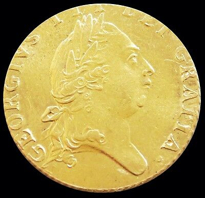 1787 Gold Great Britain 1/2 Spade Guinea King George Iii Coinage Mint State
