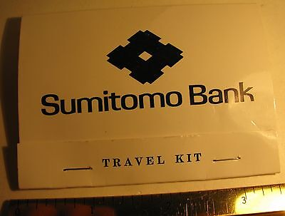 Vintage Sumitomo Bank Travel Sewing Kit San Francisco California Advertising