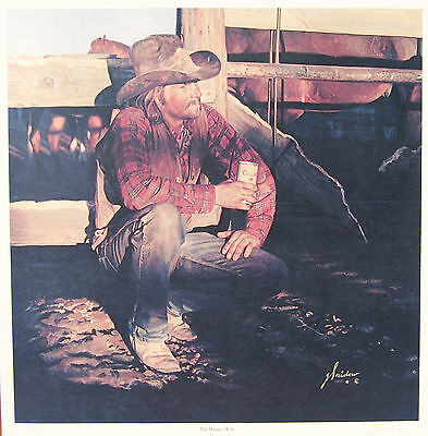 Gordon Snidow The Happy Hour Coors Cowboy Artists America CAA print 997 beer
