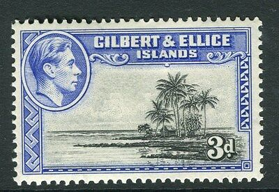 GILBERT & ELLICE ISLANDS;  1938 early GVI issue Mint hinged 3d. value