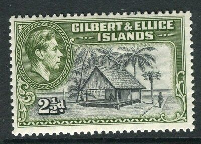 GILBERT & ELLICE ISLANDS;  1938 early GVI issue Mint hinged 2.5d. value