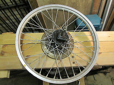 Kawasaki KLR600 front wheel, disc, spindle and speedo drive