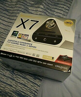 Creative Sound Blaster X7 limited edition External USB DAC Amplifier Headphone