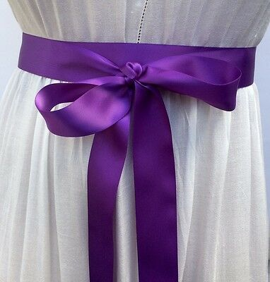 Double Face Satin Ribbon Sash, 1.5 Inch Wide - - 10 Feet Long, Bridal Sash Prom