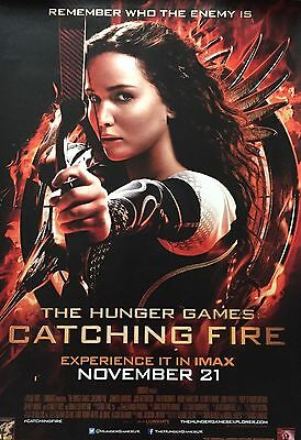 The Hunger Games Catching Fire Original US One Sheet Style Cinema Quad Poster