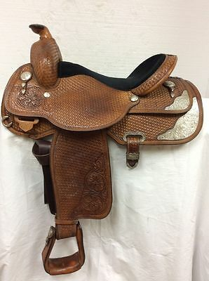 "Circle Y 16"" Western Show Saddle #2643 - Used  Regular Quarter Horse Bar"