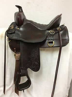 "Tucker Saddlery #260 15.5"" High Plains Western Trail Wide Bar Tree New Demo"