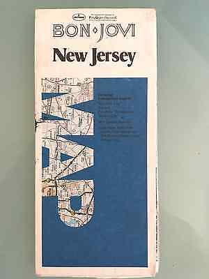 Bon Jovi map of New Jersey (1988) RARE!