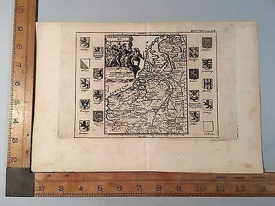 antique map of the provinces of the Netherlands / 17th century
