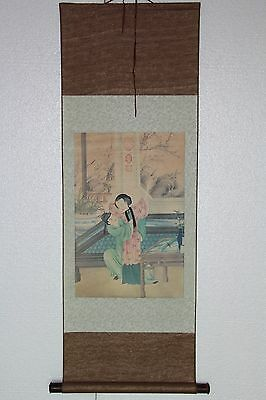 Exquisite CHINESE SCROLL man and Beauty