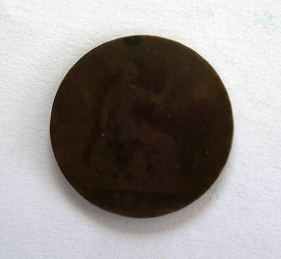 QUEEN VICTORIA ONE PENNY COIN (Date Unreadable)