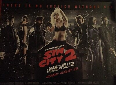 Sin City 2: A Dame to Kill For Original UK Cinema Quad Poster