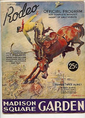 1935 Rodeo Program, Madison Square Garden, Early Mickey Mouse Cartoon
