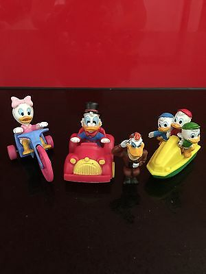 Vintage McDonalds Duck Tales Happy Meal Toys Scrooge Daisy Huey Duey Louie 1988