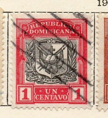 Dominican Republic 1907 Early Issue Fine Used 1c. 121859