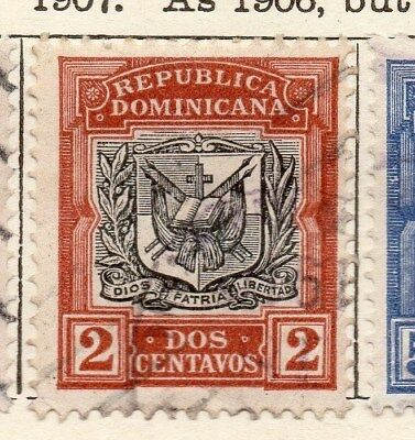 Dominican Republic 1907 Early Issue Fine Used 2c. 121860