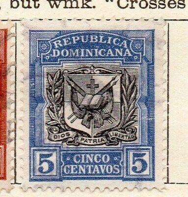 Dominican Republic 1907 Early Issue Fine Used 5c. 121861