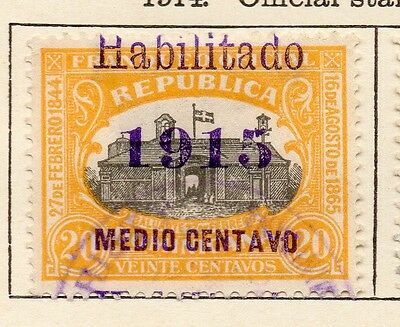 Dominican Republic 1914 Early Issue Fine Used 1/2c. Surcharged Optd 1915 121876