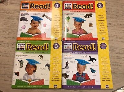 �� Your Baby Can READ! Early Language Lift-a-Flap Books Lot Of 4 Robert Titzer