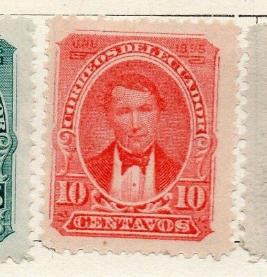 Ecuador 1895 Early Issue Fine Mint Hinged 10c. 121929