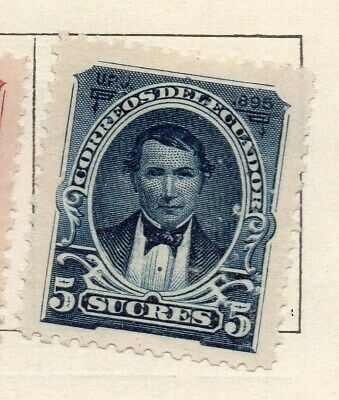 Ecuador 1895 Early Issue Fine Mint Hinged 5s. 121933