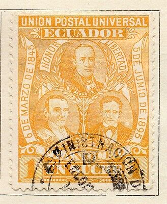 Ecuador 1895 Early Issue Fine Used 1s. 121938