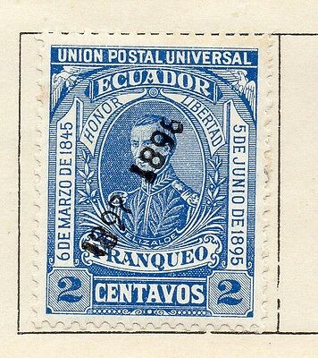 Ecuador 1897 Early Issue Fine Mint Hinged 2c. Optd 121963