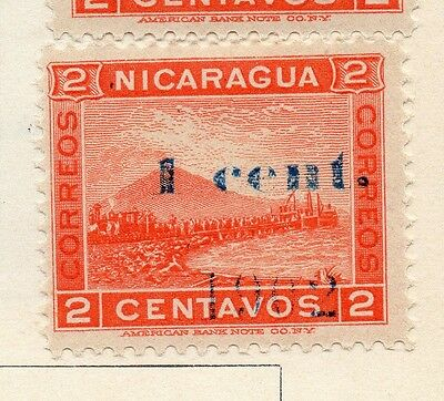 Nicaragua 1902 Early Issue Fine Mint Hinged 1c. Surcharged Optd 122057