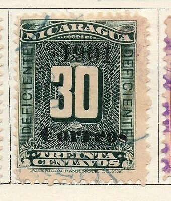 Nicaragua 1901 Early Issue Fine Used 30c. Optd 122062