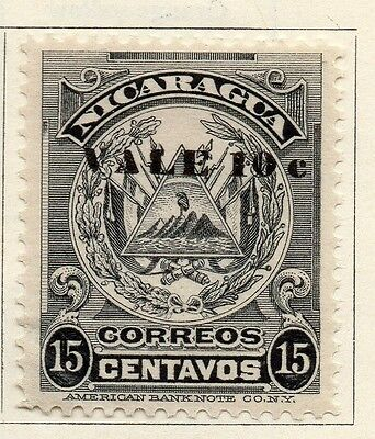 Nicaragua 1910 Early Issue Fine Mint Hinged 10c. Surcharged 122077