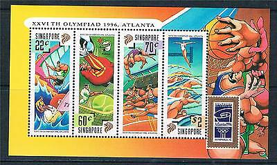 Singapore 1996 Olympic Games MS SG 849 MNH