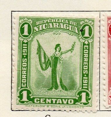 Nicaragua 1912 Early Issue Fine Mint Hinged 1c. 122150