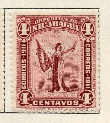 Nicaragua 1912 Early Issue Fine Mint Hinged 4c. 122153