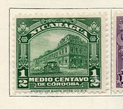 Nicaragua 1922 Early Issue Fine Mint Hinged 1/2c. 122191