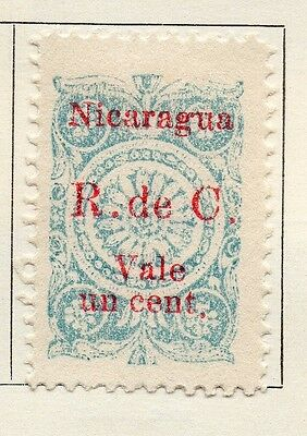 Nicaragua 1922-23 Early Issue Fine Used 1c. Optd Surcharged 122195
