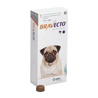 Bravecto Chews Flea and Tick Treatment For Dogs 4.5-10kg 1 Pk