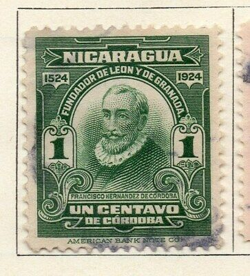 Nicaragua 1924 Early Issue Fine Used 1c. 122200