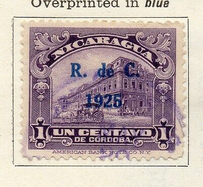 Nicaragua 1926 Early Issue Fine Used 1c. Optd 122204
