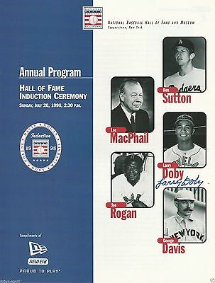Larry Doby Cleveland Indians Signed 1998 Hall Of Fame Annual Program