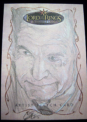 Topps LOTR Lord of the Rings EVOLUTION sketch card by CAT STAGGS