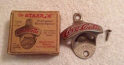 Vintage Coca Cola Starr X Stationary Bottle Opener w/ Box #27