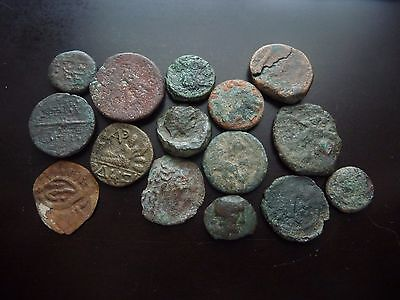 lot of 15 Ancient coins mostly Greek