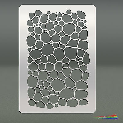 Bubbles Matrix Stencil Template:   Scrapbooking, Airbrushing, Art:  ST41A6