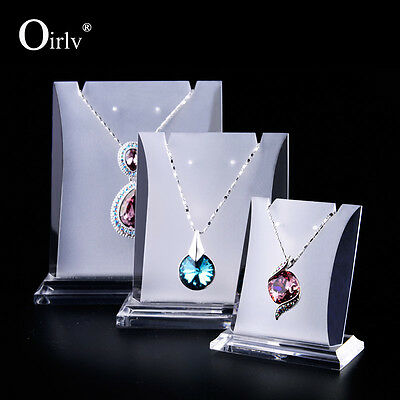 Oirlv Necklace Pendant Holder Shop Showcase Matte Acrylic Jewelry Display Stand
