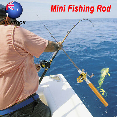 Fishing Combo Telescopic Mini Pocket Fish Pen Portable Fishing Rod Pole + Reel