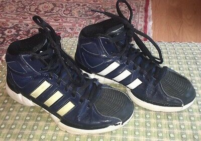 Youth or Women's Adidas Pro Model Basketball Shoes Size 6 Or Youth 5 Y Navy Blue