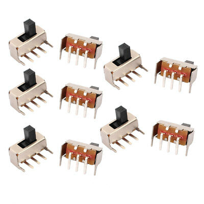 10Pcs DC50V 0.5A 2 Position 3P SPDT Micro Slide Switch Latching Power Switch