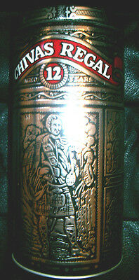 Chivas Regal Whisky Tin With Cover Bar Decoration 750 Ml Collectable