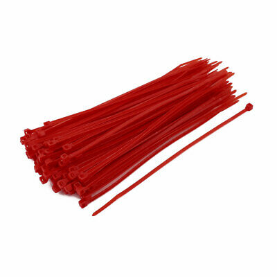 3mm x 150mm Self Locking Nylon Cable Ties Industrial Wire Zip Ties Red 100pcs